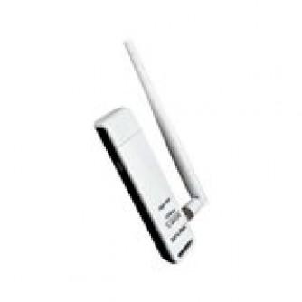 NIC TP-Link TL-WN722N, USB 2.0 Adapter, 2,4GHz High Gain Wireless N 150Mbps, Detachable Omni Directional Antenna 1 x 4dBi (RP-SMA)