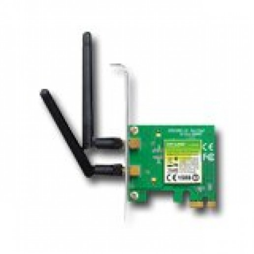 NIC TP-Link TL-WN881ND, PCI Express (x1) Adapter, 2,4GHz Wireless N 300Mbps, Detachable Omni Directional Antenna 2 x 2dBi (RP-SMA)