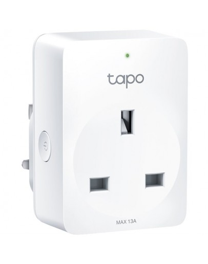 Tapo mini smart plug P100, 220-240V, 50/60Hz, 802.11b/g/n wifi connection, onboard Bluetooth 4.2, one status indicator, one power button, works with Google Assistant and Amazon Alexa, easy setup and management with Tapo Appp