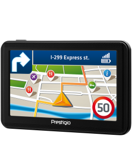 "Prestigio GeoVision 5060, 5"" (480*272) TN display, WinCE 6.0, 800MHz Mstar MSB2531 Cortex A7, 128MB DDR, 4GB Flash, 600mAh battery, color/black, No maps inside"