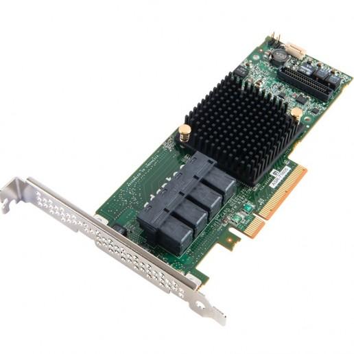 Microsemi Adaptec RAID Controller 8805, 8 int. ports, 2 x SFF-8643, 12 Gbps ROC, RAID 0, 1, 1E, 5, 6, 10, 50, 60, Cache 1 Gb, AFM-700 (sold separately), x8 PCI-E Gen3, MD2, LP, (2277500-R)