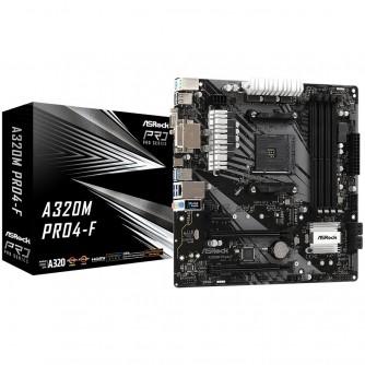 ASROCK Main Board Desktop A320M PRO4-F (AM4, 4xDDR4, 1xPCI-E x1, 1xPCI-E x16, HDMI, DVI-D, D-Sub, 4 SATA3, mATX, retail)