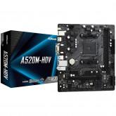 ASROCK Main Board Desktop A520M-HDV (AM4, 2xDDR4, PCIe 3.0 x16,PCIe 3.0 x1, M.2, 4 SATA3, D-Sub, DVI, HDMI, mATX, retail)