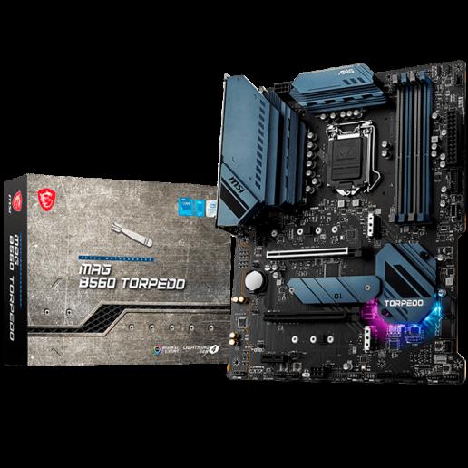 MSI MAG B560 TORPEDO, ATX, Socket 1200, Dual Channel DDR4 5066(OC)MHz, 2x PCIe x16 slots, 3x M.2 slots, 1x HDMI, 1x DP, 5x USB 3.2, 4x USB 2.0, Type-C, 7.1 HD Audio, 2.5Gbps+1Gbps LAN