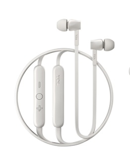 TCL In-ear Bluetooth Headset, Strong Bass, Frequency of response: 10-22K, Sensitivity: 107 dB, Driver Size: 8.6mm, Impedence: 16 Ohm, Acoustic system: closed, Max power input: 20mW, Connectivity type: Bluetooth only (BT 5.0), Color Ash White