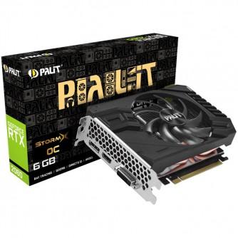 PALIT Video Card GeForce RTX 2060 nVidia, StormX  Mini ITX 6GB GDDR6,192bit ,DVI,HDMI,DP,part# NE62060018J9-161F