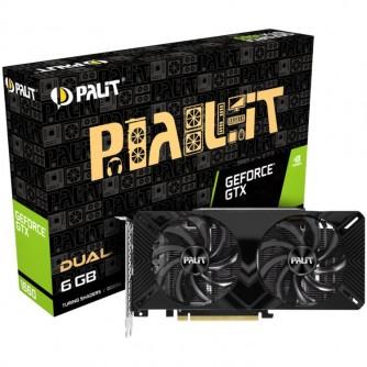 Palit GeForce GTX 1660 Dual 6GB GDDR5, 192bit, DVI-D x2, DP1.4a x1, HDMI2.0b x1, power consumption 120W.