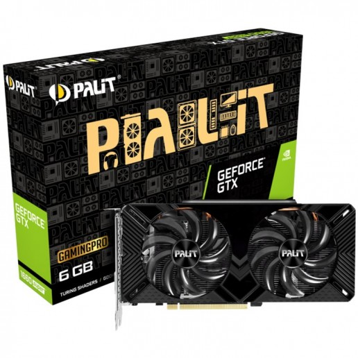 VC Palit nVidia GTX1660 SUPER Gaming Pro 6GB GDDR5, 192bit, DVI, HDMI, DP part# NE6166S018J9-1160A