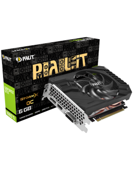 VC Palit nVidia GTX1660 StormX OC 6GB GDDR5, 192bit, DVI, HDMI, DP part# NE51660S18J9-165F