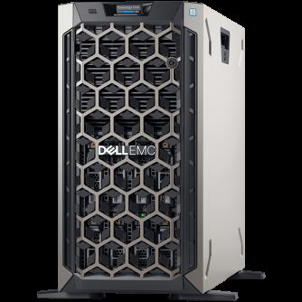 """PET340,3.5"""" Chassis x8 Hot Plug HDD,Xeon E-2224 3.4GHz 8M 4C/4T,16GB 2666MT/s DDR4 ECC UDIMM,iDrac9 Basic,1TB 7.2K SATA 6Gbps HDD,PERC H330 RAID,DVD +/-RW,(1+0)495W PSU,TPM 2.0,On-Board LOM 1GbE,3Y NBD"""