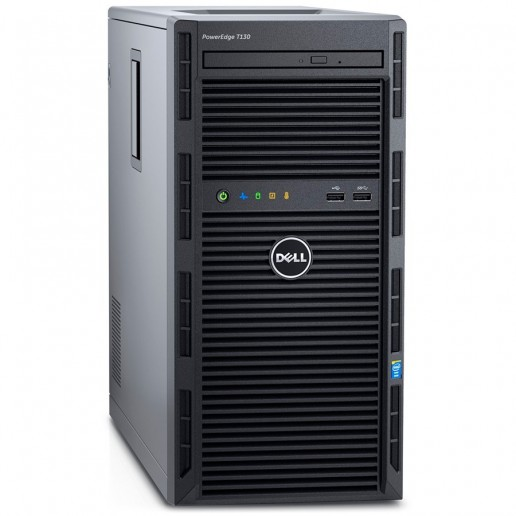 PowerEdge T140,Intel Xeon E-2124 3.3GHz 8M cache 4C/4T,3.5 Chassis up to 4 Cabled HDD and Software Raid,8GB 2666MT/s DDR4 ECC UDIMM,iDrac9 Bas.,1TB SATA 6Gbps 3.5Cabled HDD,Embedded SATA,DVD+/-RW,TPM 1.2,On-Board LOM,3Y NBD