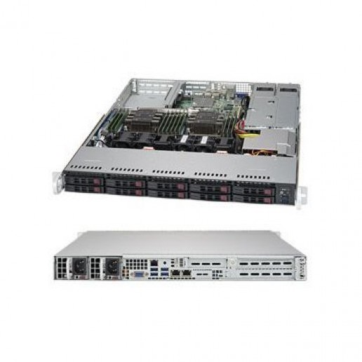 Supermicro 1U, 1P, 1xIntelXeon 4208, 16GB, 8 SFF, S3108L-H8IR-16DD, 1xSSD 480GB SATA, 2x1Gb, 2x750W, 3YRS Warranty
