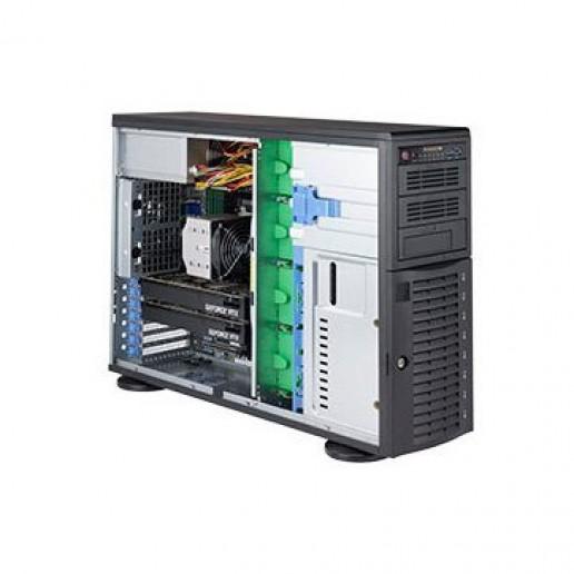 Supermicro Tower, 1P, 1xIntelXeon 4208, 16GB, 8 LFF, 1xSSD 480GB SATA, 1x1Gb, 1x10GB + IPMI, 7.1 HD Audio, 2x2200W, 3YRS Warranty