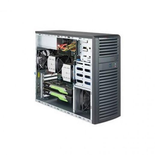 Supermicro Workstation, 2P, 1xIntelXeon 4208, 16GB, 4 LFF, 1xSSD 480GB SATA, 2x1Gb, 1200W nhp, 3YRS Warranty