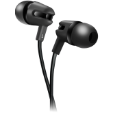 CANYON Stereo earphone with microphone, 1.2m flat cable, Black, 22*12*12mm, 0.013kg