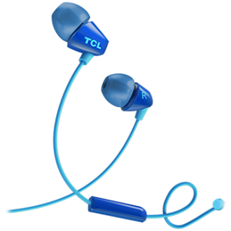 TCL In-ear Wired Headset ,Frequency of response: 10-22K, Sensitivity: 105 dB, Driver Size: 8.6mm, Impedence: 16 Ohm, Acoustic system: closed, Max power input: 20mW, Connectivity type: 3.5mm jack, Color Ocean Blue