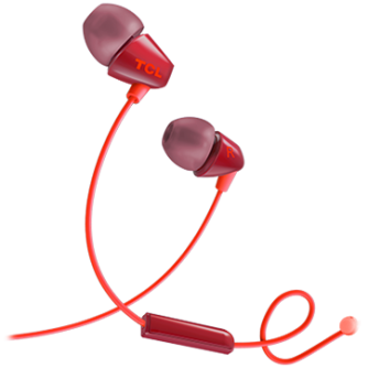 TCL In-ear Wired Headset ,Frequency of response: 10-22K, Sensitivity: 105 dB, Driver Size: 8.6mm, Impedence: 16 Ohm, Acoustic system: closed, Max power input: 20mW, Connectivity type: 3.5mm jack, Color Sunset Orange