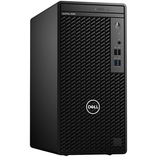 Dell OptiPlex 3080 MT, Intel Core i5-10505 (6C, 12M Cache, 3.2 GHz up to 4.60Ghz), 8GB (1x8GB) 2666MHz DDR4, 1TB SATA, Intel UHD Graphics, DVD-RW, Keyboard and Mouse, Win 10 Pro, 3Y Basic Onsite