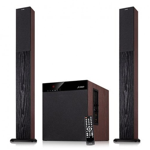 Multimedia - Speaker F&D T-400X (2.1, 100W, 400Hz-20kHz, Subwoofer: 20Hz-100Hz, USB/SD card reader, FM, Remote control, Wooden)