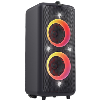 """Multimedia Speakers F&D PA300, Bluetooth 5.0, RMS: 100W(50W*2), Subwoofer: 7"""", LED display, Multicolor, FM, Optical, USB, AUX, Remote control, microphone, Built-in 7Ah rechargeable battery"""