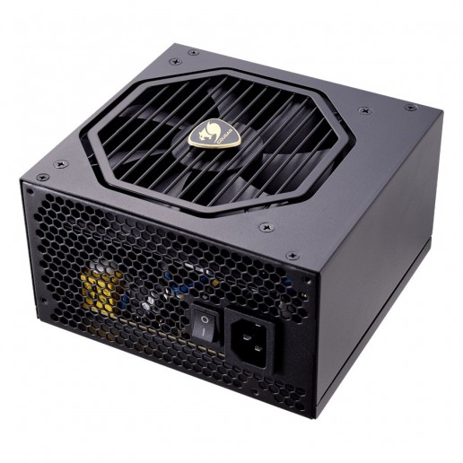 COUGAR GX-S 550, 550W, 80 Plus Gold, Flawless Operation at 40°C, Compact PSU Size: for All PC Cases, Single +12V DC Source, Optimized Over Current Protection