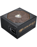 COUGAR GX800, 80 Plus Gold, Ultra-Quiet & Temperature-Controlled 140mm fan, Advanced Modular Cable, Support PCI Express 2.0 next-generation graphic card with 8(6+2)pin PCI-E connector