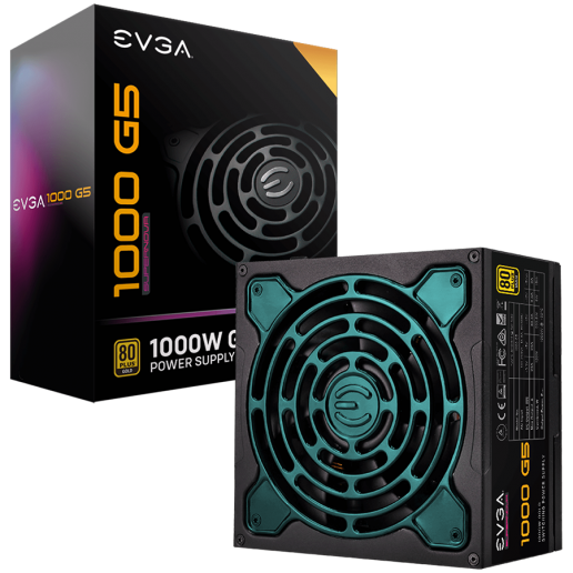 EVGA SuperNOVA 1000 G5, 80 Plus GOLD 1000W, Fully Modular, ECO Mode with FDB Fan, Includes Power ON Self Tester, Compact 150mm Size, 10 Year Warranty
