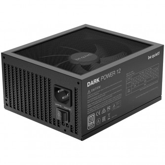 be quiet! DARK POWER 12 1000W, 80 PLUS Titanium, Silent Wings, full-mesh PSU front, Modular cable management, 10-year warranty