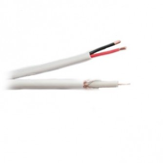 Coaxial cable RG59+2C power cable, 305 m.