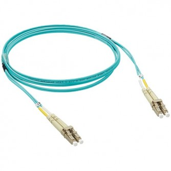 Patch cord fibre optic - OM 3 multimodules (50/125 μm) - LC/LC duplex - 2 m. Legrand cabling system LCS³ fibre optic - patch cords.Suitable for 10 Giga Ethernet networks.Optic losses max/Master: 0.25 dB.For multimode installations 50/125 μm, type