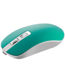 2.4GHz Wireless Rechargeable Mouse with Pixart sensor, 4keys, Silent switch for right/left keys,DPI: 800/1200/1600, Max. usage 50 hours for one time full charged, 300mAh Li-poly battery,  Aquamarine, cable length 0.56m, 116.4*63.3*32.3mm, 0.075kg