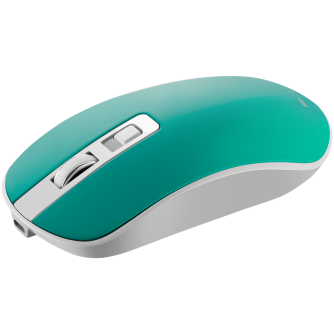 2.4GHz Wireless Rechargeable Mouse with Pixart sensor, 4keys, Silent switch for right/left keys,DPI: 800/1200/1600, Max. usage 50 hours for one time full charged, 300mAh Li-poly battery,, Aquamarine, cable length 0.56m, 116.4*63.3*32.3mm, 0.075kg