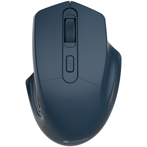 CANYON 2.4GHz Wireless Optical Mouse with 4 buttons, DPI 800/1200/1600, Dark Blue, 115*77*38mm, 0.064kg