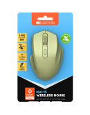 CANYON 2.4GHz Wireless Optical Mouse with 4 buttons, DPI 800/1200/1600, Golden, 115*77*38mm, 0.064kg