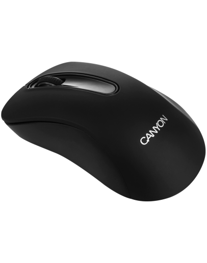 CANYON 2.4GHz wireles Optical Mouse with 3 buttons, DPI 1200, Black, 108*65*38mm, 0.066kg