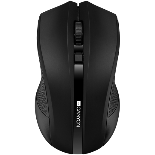 CANYON 2.4GHz wireless Optical Mouse with 4 buttons, DPI 800/1200/1600, Black, 122*69*40mm, 0.067kg