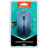 CANYON 2.4GHz wireless Optical Mouse with 4 buttons, DPI 800/1200/1600, Blue, 122*69*40mm, 0.067kg