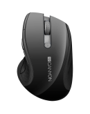CANYON 2.4Ghz wireless mouse, optical tracking - blue LED, 6 buttons, DPI 1000/1200/1600, Black pearl glossy