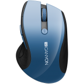 CANYON 2.4Ghz wireless mouse, optical tracking - blue LED, 6 buttons, DPI 1000/1200/1600, Blue Gray pearl glossy