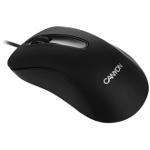 CANYON Wired Optical Mouse with 3 buttons, 1200 DPI optical technology for precise tracking, black, cable length 1.5m, 108*65*38mm, 0.076kg