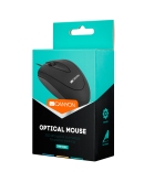 CANYON wired optical Mouse with 3 buttons, DPI 1000, Black, cable length 1.15m, 100*51*29mm, 0.07kg