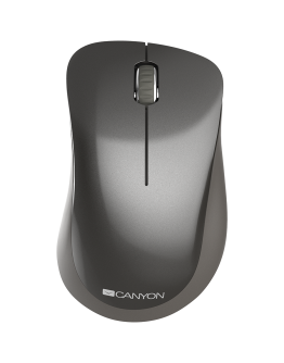 Canyon  2.4 GHz  Wireless mouse ,with 3 buttons, DPI 1200, Battery:AAA*2pcs,Dark Gray ,67*109*38mm,0.063kg