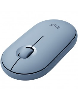 LOGITECH Pebble M350 Wireless Mouse (Blue Gray)