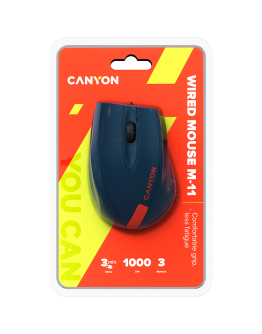 Wired Optical Mouse with 3 keys, DPI 1000 With 1.5M USB cable,Blue-Red,size 68*110*38mm,weight:0.072kg