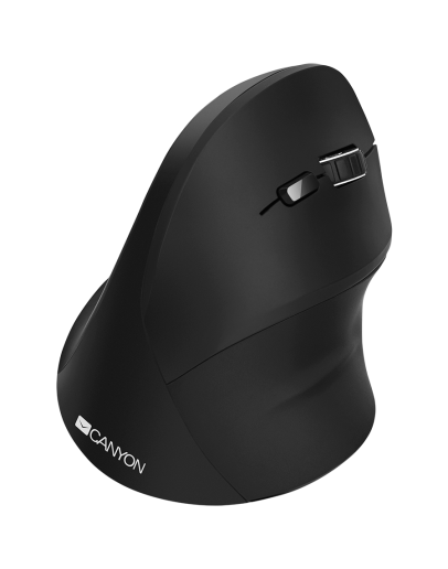 wireless Vertical mouse, USB2.4GHz, Optical Technology, 6 number of buttons, USB 2.0, resolution: 800/1200/1600 DPI, black, size: 86*115*71mm,90g