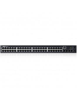 Dell Networking N1548, 48x 1GbE + 4x 10GbE SFP+ fixed ports, Stacking, IO to PSU airflow, AC