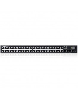 Dell Networking N1548P, PoE+, 48x 1GbE + 4x 10GbE SFP+ fixed ports, Stacking, IO to PSU airflow, AC