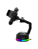 COUGAR Bunker M Mobile Charging Stand RGB,Wireless Charging,Adjustable Stand,14 RGB lighting effects,2 USB Hub,120 x 70 x 145 (mm)