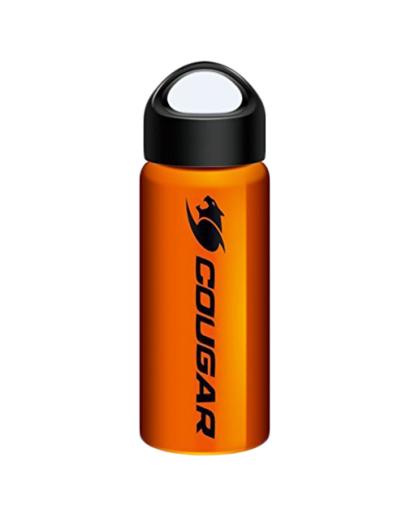 COUGAR Steel Bottle, 304 Stainless Steel durable and safe, Extra-wide mouth design, Easy to use and clean, Push-pull cap great for on-the-go usage