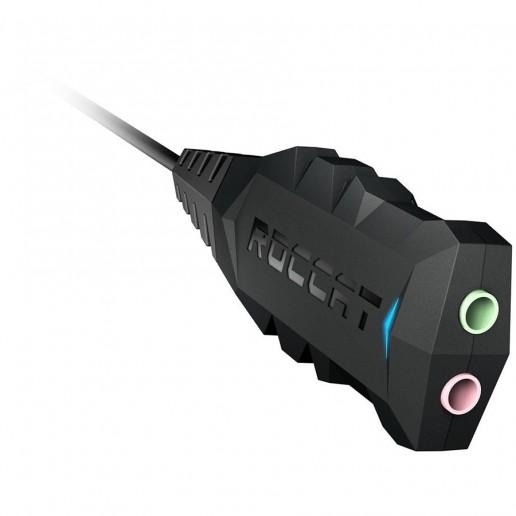 ROCCAT JUKE 7.1 + USB Stereo Soundcard & Headset Adapter,Sampling Rate:48K/44,1KHz,Connection:USB,Jacks: 2×3.5mm,Max. height/length:27mm/250mm